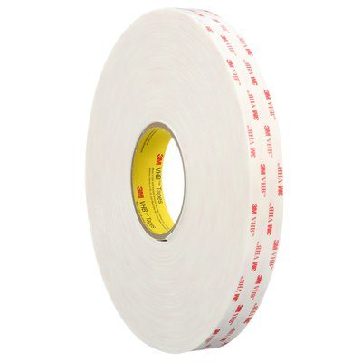 VHB Tapes 3M 4945-3/4X36 VHB Tape 4945 White 3/4 Inch x 36yds 45.0mil