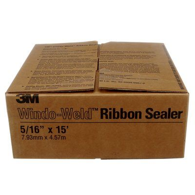 Sealers 3M 8621 Windo-Weld Round Ribbon Sealer 08621 5/16 in x 15 Ft (0.79 cm x 4.5 m) Roll One Roll Per Box