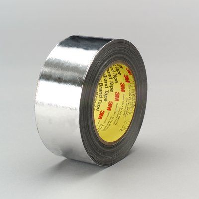 Glass Tapes 3M 363-1/2X36 High Temperature Aluminum Foil / Glass Cloth Tape 363 Silver 1/2 Inchx 36yds 7.3 mil