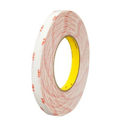 Double Sided Tapes 3M 9456-1X72 Double Coated Tissue Tape 9456 Clear 5mil 1 Inch x 72yds (2.5 cm x 65.8 m)