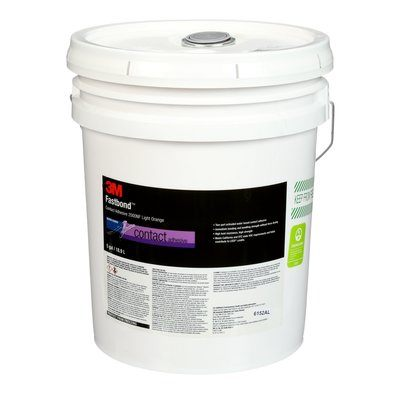 Fastbond Contact Adhesive 2000NF-5G-ORG-PAIL 5 Gallon 1 Per Case 3M 7000121396