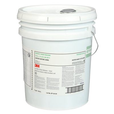 Contact Adhesives 3M 30LM-5GAL-GRN Fastbond Contact Adhesive, 30LM-5GAL-GRN, 5 gallon