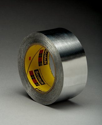 433L-23X60 High Temperature Aluminum Foil Tape 433L Silver Linered 23 in x 6 Yards 3.5 Mil