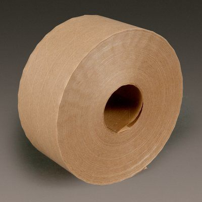Water Activated Tapes 3M 6144-70X450 Water-Activated Paper Tape 6144 Natural Economy Reinforced 70mm x 137.2 m