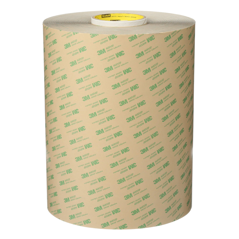 Transfer Tapes 3M 468MP-11-3/4X180 Adhesive Transfer Tape 468MP Clear 11-3/4 Inch x 180yds (298.5mm x 164.6 m)