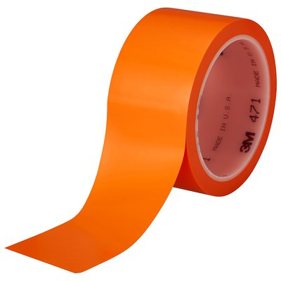 Vinyl Tapes 3M 471-2X36-ORG-IW Vinyl Tape 471 Orange 5.2mil 2 Inch x 36yds (5.1 cm x 32.91 m)