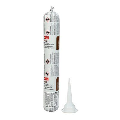 Sealants 3M 590-600-BLK Oem Polyurethane Glass Adhesive Sealant 590 Black 600 ml Sausage Pack