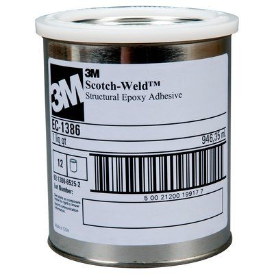 Epoxy Cream 3M EC1386-1QT Scotch-Weld Epoxy Adhesive 1386 Cream 1 Quart (0.95 L)