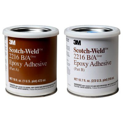 2216-1PT-KIT-GRY Scotch-Weld Epoxy Adhesive 2216 Part B/A Grey 1 Qt (0.95 L) Kit