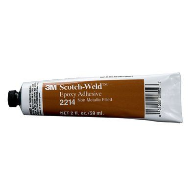 Epoxy 3M 2214-2OZ Scotch-Weld Epoxy Adhesive 2214 Grey 2 Fl Oz (60 ml)
