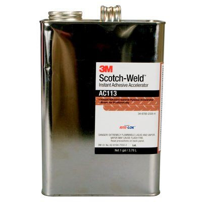 Scotch-Weld Instant Adhesive Activator AC113 Clear 4 L Can 1 Per Case 3M 7100039249