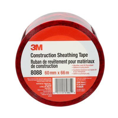 Sheathing Tapes 3M 8088-60X66 Construction Sheathing Tape 8088 60mm x 66m