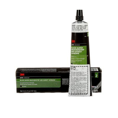 Rubber & Gasket Adhesives 3M 8008 Black Super Weatherstrip And Gasket Adhesive Black 5 Fl Oz