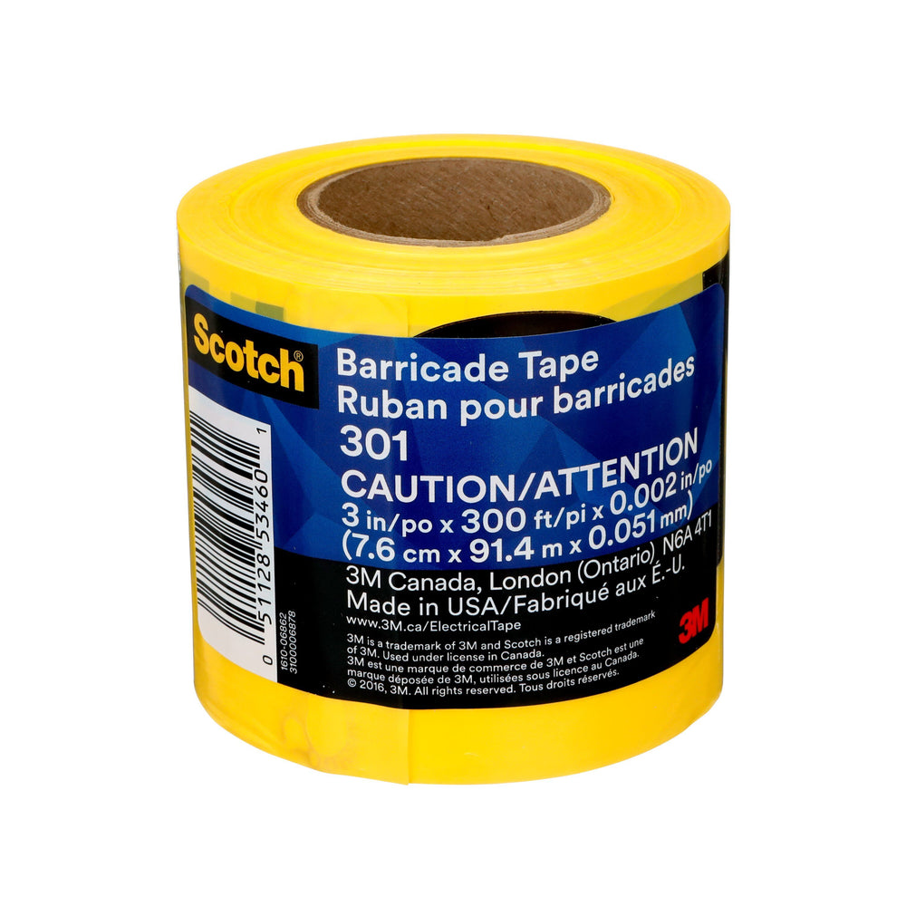 Barricade Tape 2mil Yellow InchesCaution Inches 4 Rolls