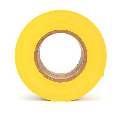Safety Tapes 3M 358 Scotch Barricade Tape 358 Yellow InchCaution High Voltage Inch 2 mil (0.05 mm) 3 Inch x 1000' (76mm x 305 m)