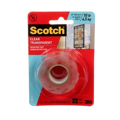 410DC-SFEF Scotch Heavy Duty Mounting Tape Double Sided Clear
