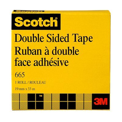 Double Sided Tapes 3M 665-18 Scotch Double Sided Tape 665 0.7 Inch x 36yds (1.8 cm x 33 m)
