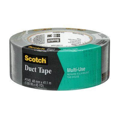 Duct Tapes 3M 1145-AF Scotch Multi-Use Duct Tape Grey 1.88 Inch x 45yds