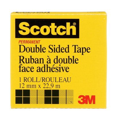 Double Sided Tapes 3M 665-C Scotch Permanent Double Sided Tape665- C 0.75 Inch x 25yds (1.2 cm x 23 m)