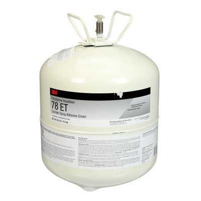 Insulation Adhesives 3M 78ET-29.3-LRG-GRN Scotch-Weld Polystyrene Foam insulation 78 Et Cylinder Spray Adhesive Green Large Cylinder (Net Wt. 29.3 Lbs) Not For Consumer/Retail Sale Or Use