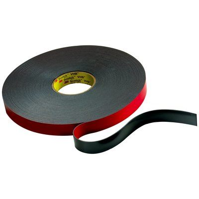 VHB Tapes 3M 5958FR-12X36 VHB Flame Retardant Tape 5958FR Black 12 Inch x 36yds 40.0 mil