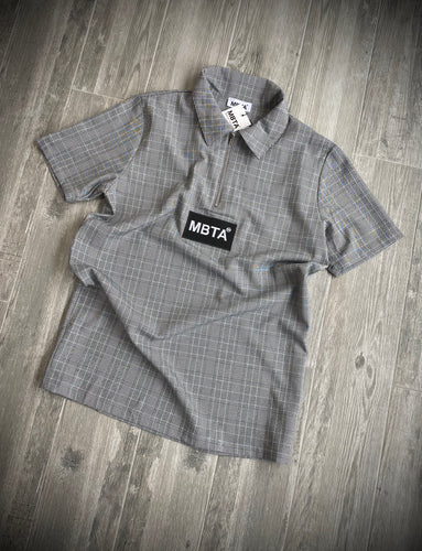 MBTA GREY POLO T-SHIRT