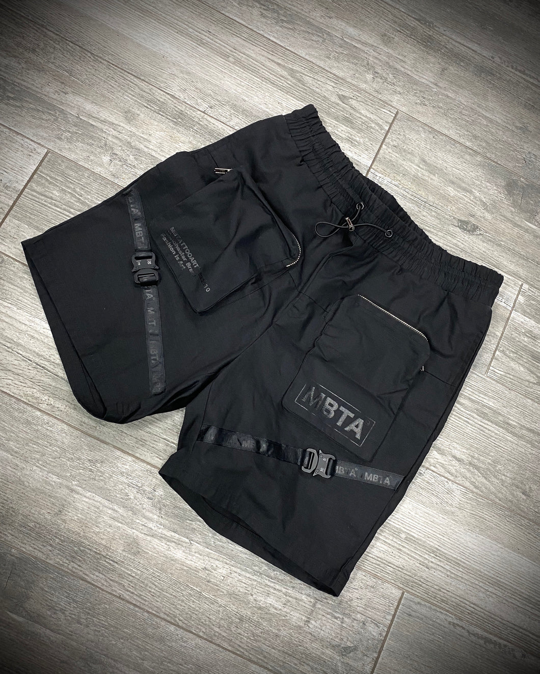 TRIPLE BLACK MBTA CARGO SHORTS