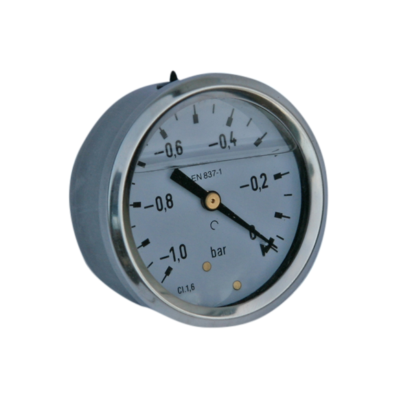Manometer RVS -1/0bar 1/4AA panelmount