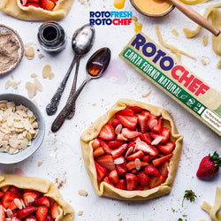 Compostable Baking Paper and Strawberry Tart