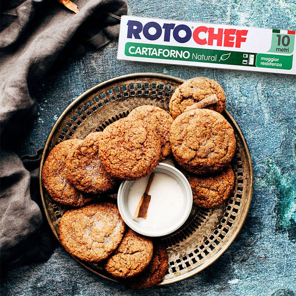 Cinnamon Cookies Rotochef natural baking paper