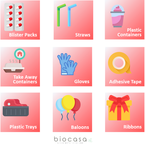 Visual guide of soft plastics that cannot be recycled