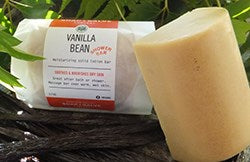 Organic vanilla beans lotion bar