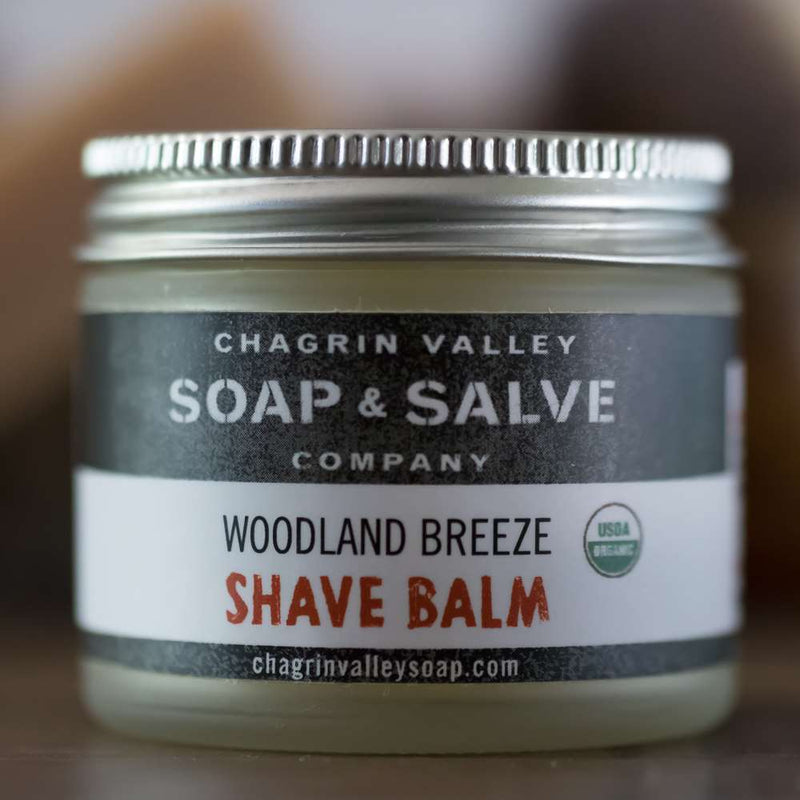 Woodland Breeze Organic after shave balm with antibacterial and anti-inflammatory properties, great for normal to dry skin. Readily absorbs into your skin.