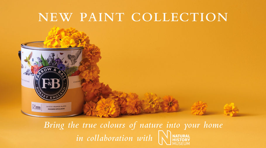 Farrow & Ball NEW COLLECTION in collaboration with the NATURAL HISTORY MUSEUM
