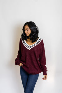 Campus VNeck Sweater