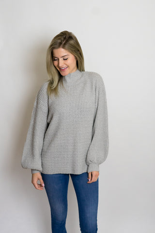 Juana Mock Neck Sweater Grey