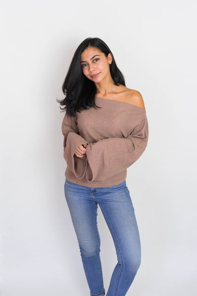 Date Night Ribbed Knit (Taupe)