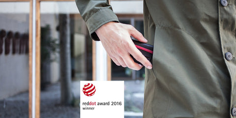 m^2 handmade leather wallet red dot design award