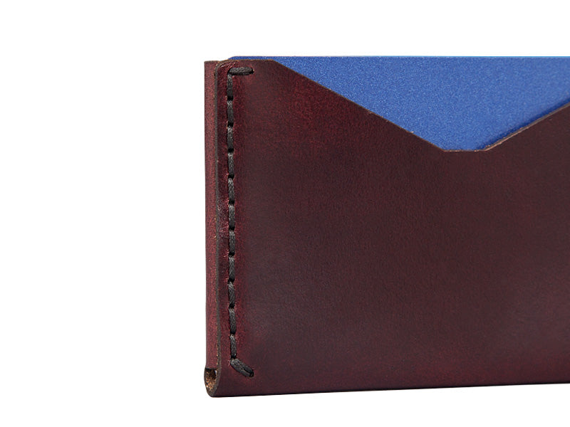 Slim-Card-Holder-Horween-Chromexcel-Leather-Burgundy-#8-Leather