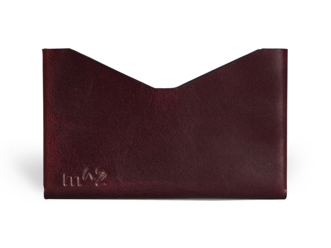 Slim-Card-Holder-Horween-Chromexcel-Leather-Burgundy-#8