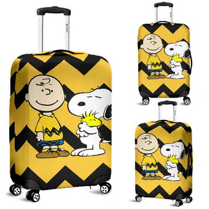 Charlie Brown and Snoopy Luggage Cover