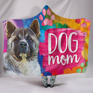 Terrier Dog Breed Watercolor Mom Personalised Hooded Blanket