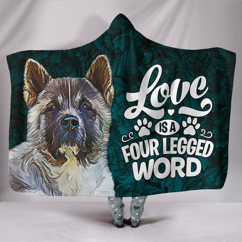 Love is a four Legged word, Personalised Hooded Blanket.