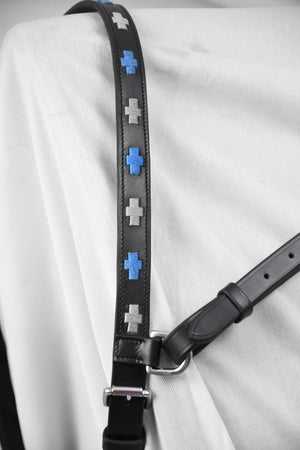 Polo Black Blue/Silver Click & Connect Neck Strap Ultimate Set