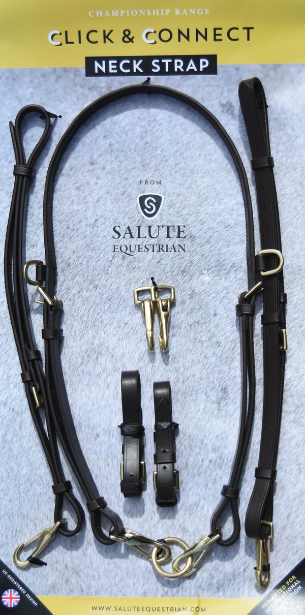 Polo Brown Burgundy/Gold Click & Connect Neck Strap Ultimate Set