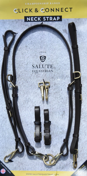 Personalised Classic Brown Click & Connect Neck Strap Ultimate Set