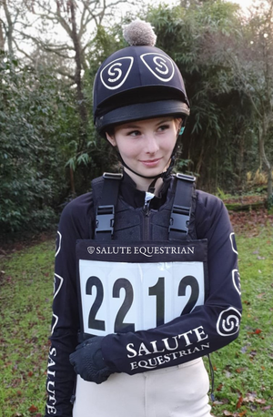 Personalised Salute Equestrian Number Bib and Inserts
