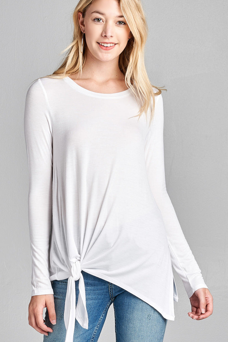 The Lucy Long Sleeve Tie Top