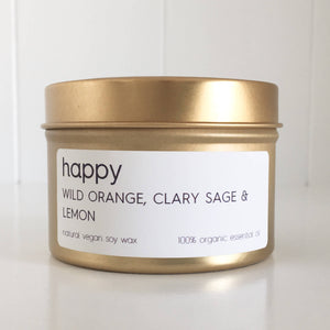 Lemon Canary - Happy Soy Wax Tin Candle - Align Your Vibe