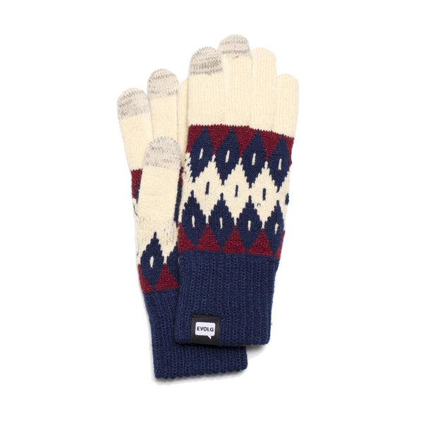 ARGYLE EVOLG GLOVES KNIT UNISEX ONE SIZE CASUAL (4 COLORS)